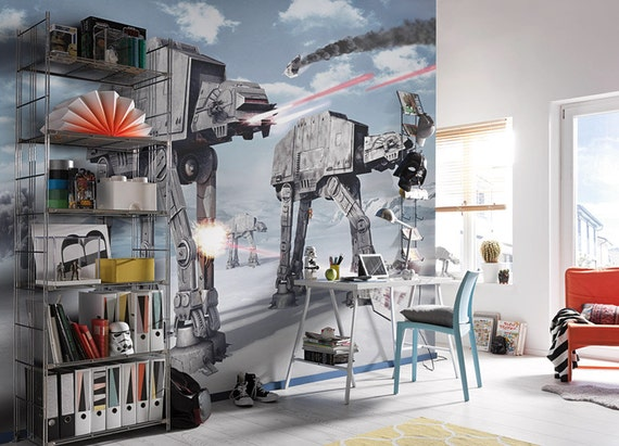 Star Wars Wall Mural AT-AT Walkers Wallpaper Imperial Walker