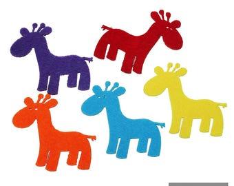 Pochette de 5 cerfs en feutrine couleur aléatoire 13 * 11 cm