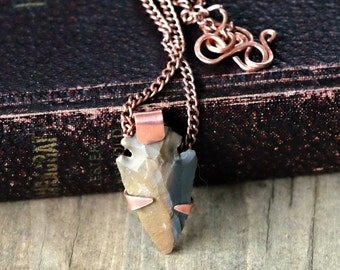 Long Copper Arrowhead Necklace