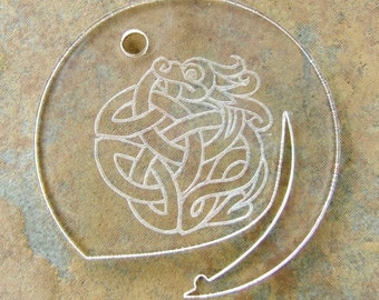Celtic Dragon Lamb's Tail Strandholder