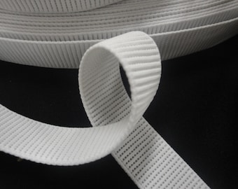 """25 Yards of 1"""" Wide Non Roll White Elastic for Sewing Stretch Belts Lingerie Undergarment Elastic Yardage ST"""