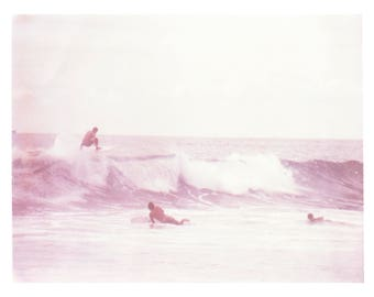 Large Scale Polaroid of Surfing in Costa Rica