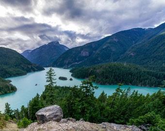 Mountain Lake - Mountain Lake Photo - Landscape - Landscape Photo - Mountain Landscape - Digital Photo - Digital Download - Wall Decor