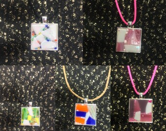Stained Glass Mosaic necklace