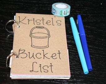 CUSTOM Bucket List Journal, CUSTOM 4x6 Journal, Smash Book, Junk Journal, Custom Journal, Memory Keeping, Travel Journal, Bucket List
