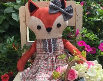 Frannie Fox PDF softie doll pattern