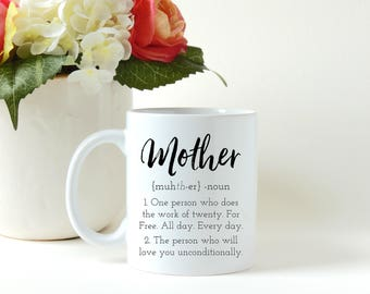 Mothers Day Gift, Mother Definition, Mothers Gift, Gift for Mom, First Time Mom Gift, Custom Mug, Personalized Mug, Coffee Mug, Coffee Cup