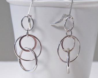 Silver Circle Earrings. Bestseller. Lightweight Earrings