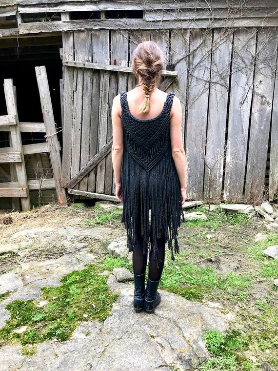 Macrame Vest - Black