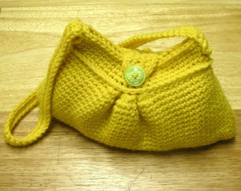 Instant Download - Crochet Pattern - Easy Pleated Bag