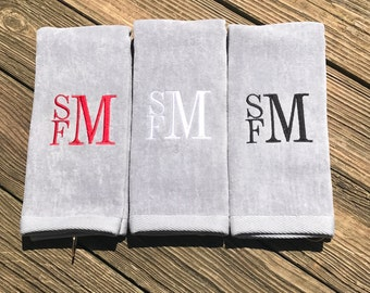 Father's Day Gift, Custom Golf Towel, Personalized Golf Towel, Monogrammed Golf Towel, Personalized Golf Towel, Golf Gift, Gift for Dad