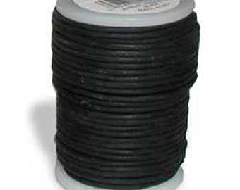 Round Leather Lace Cord (1mm)