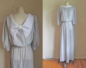 50% OFF...last call // vintage 1970s dress - EMMA DOMB chiffon maxi dress / S/M