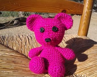 Pink Teddy Bear crochet handmade