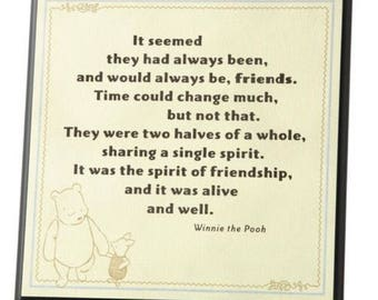 Winnie the Pooh Piglet Disney Wall Plaque - Friendship