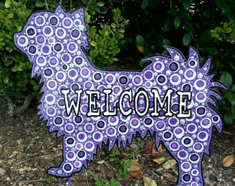 Long haired Chihuahua Welcome Sign Yard Stake, Metal Art, Welcome Sign, chihuahua  Yard Art, Home Decor, Front Door Decoration, Dog Lover