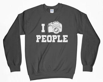 I Shoot People, Camera Sweatshirt, Photographer, Photographer Shirt, I Shoot People Shirt, Camera T-Shirt, Gift For Him, Gift For Her