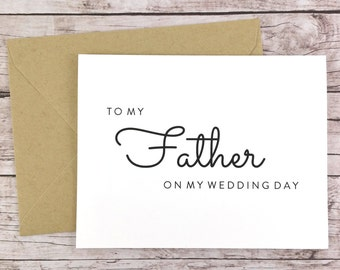 To My Father On My Wedding Day Card, Father Card, Wedding Card, Father of the Bride, Father of the Bride Gift  - (FPS0016)