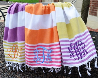 Beach Towel, Personalized / Monogrammed Beach Towel from Sassy Southern Gals