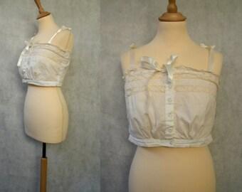 Edwardian Cotton Camisole Corset Cover