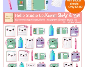 Kawaii study n plan planner stickers