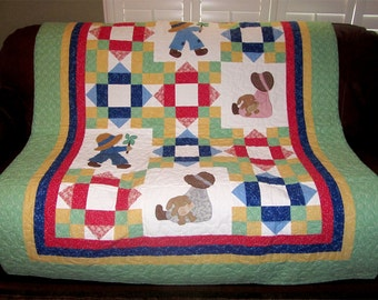 Baby Quilt Sunbonnet Sue and Sam