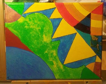 abstract acrylic landscape painting