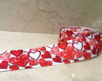 """2 metres of Ribbon collection """"Amour"""" 25 mm"""