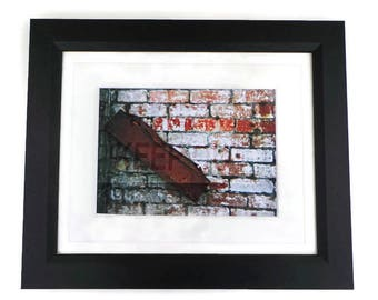 Urban Style Old Brick Wall Original Photography Print Framed Or Unframed