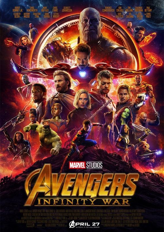 Cartel de película de guerra de infinito de Marvel Avengers