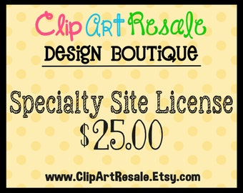 Specialty Site License  - One time fee!  BONUS 5.00 worth of FREE clip art - Cafe Press, Zazzle and Crafts U Print Sites