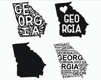 Georgia / 4 designs / SVG / Dxf / Png / Eps/ Cricut explore / printable / silhouette / INSTANT DOWNLOAD vector files for cutting machines
