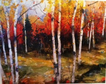 Birch Fall Song Limited Edition Print