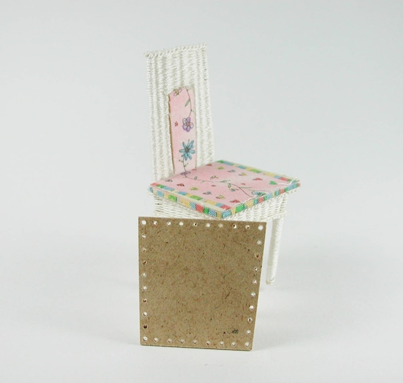 Boards approx. 3.5 x 3.7 cm, for chair, floor for wicker, basket weaving, for tinkering for the doll's room, Dollhouse miniatures, model making
