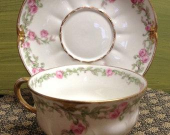 Limoges Teacup Pink Flower Hostess Gift Gift for Her Gift for Mom Teacher Gift