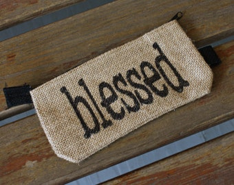 Zippered Pouch - Blessed