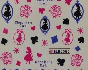 Alice in Wonderland Nail Art Decals
