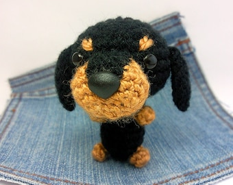 Amigurumi Wiener Dog Pattern : Amigurumi dachshund crochet dachshund dog stuffed toy