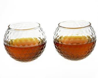 Whiskey Glasses - Golf Ball Shaped Rocks Glass (Set of Two - Golf Ball)