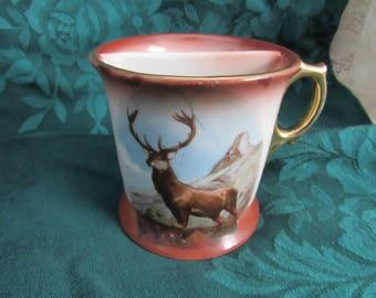 Vintage Stag Deer Shaving Mug