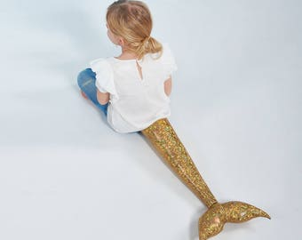 La Sirena - gold, mermaid, mermaid tail, x-mas gift, girls, Christmas Gift