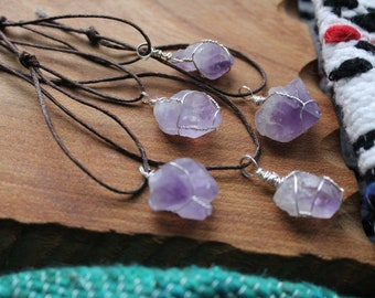 Small Amethyst Necklaces