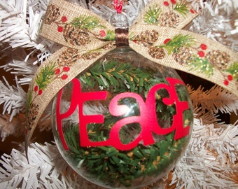 FREE SHIPPING -- PEACE ornament