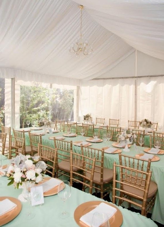 Mint green tablecloth table cloth table runners wedding
