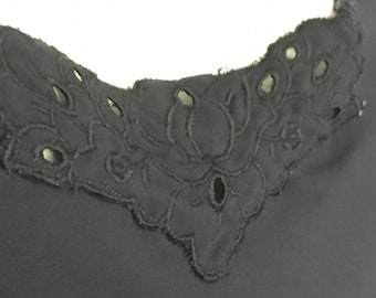 60s Vanity Fair Gown | 1960s Black Nightgown | '60s Glam Sleep | Punk Pink up