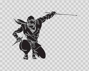 Decal Sticker Ninja Warrior Fighting martial arts Sports 08638