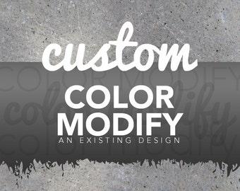 Custom Color Modify