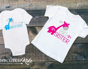 Matching Sibling Shirts - Sibling Outfits - Big Sister Little Brother - Sibling Outfits - Pregnancy Announcement - New Baby Gift