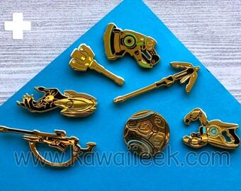 Overwatch Golden Weapon Enamel Pin - BLIND PACK Loot Box - Support - Ana Brigitte Lucio Mercy Moira Symmetra Zenyatta