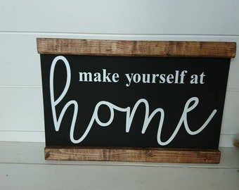 Guest room, guest room sign, guest room decor, make yourself at home, sign, farmhouse style, decor, decorations, home decor
